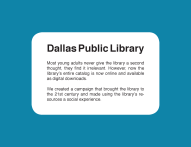 Dallas Library Blurb