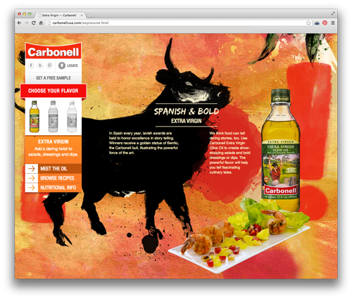 Carbonell's Extra Virgin Olive Oil is daringly expressive.