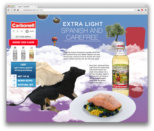 Carbonell's Extra Light Olive Oil is fantastically light.